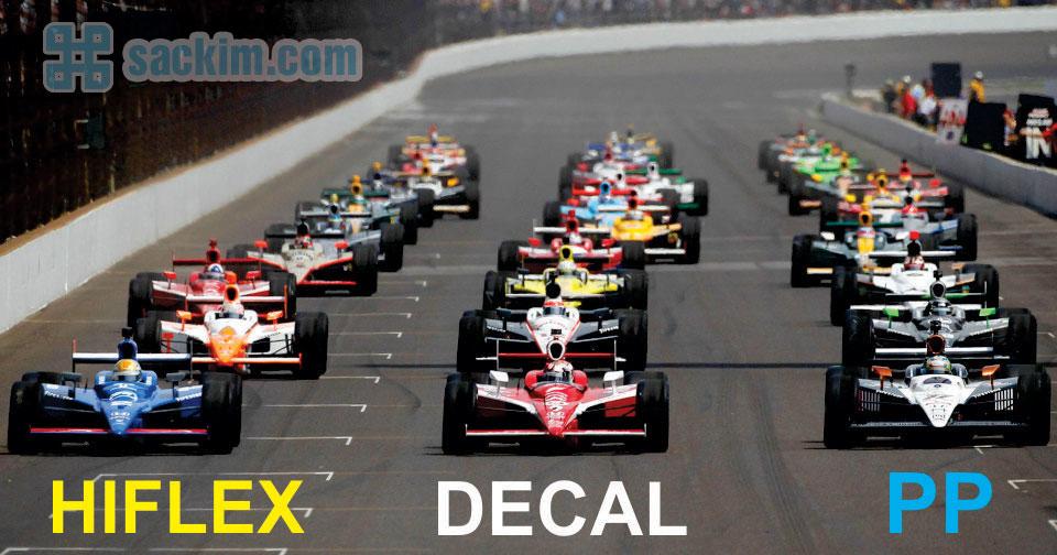 Hiflex , pp và decal là 3 vật liệu chủ chốt trong nghành in kỹ thuật số