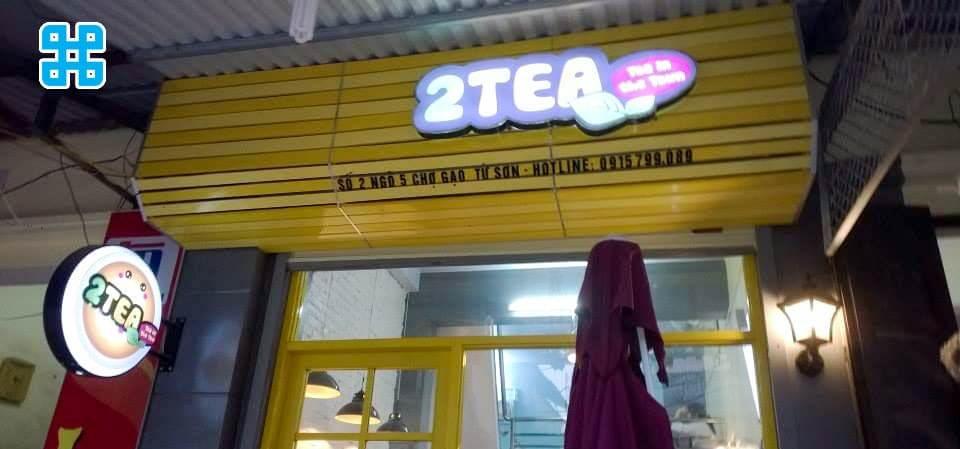bảng hiệu trà sữa ăn vặt - mẫu 2