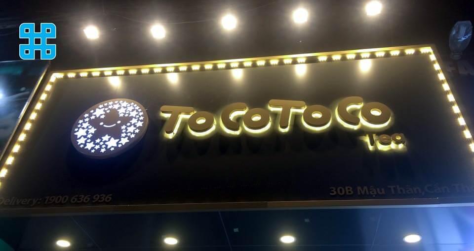 bảng hiệu quán trà sữa ToGo ToGo