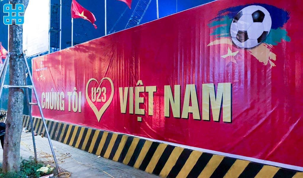 băng rôn yêu nước Việt Nam