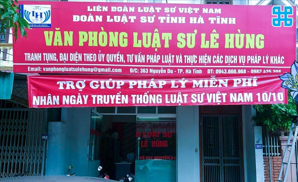 băng rôn mừng ngày luật sư Việt Nam