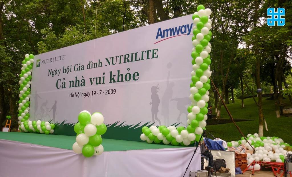 băng rôn sự kiện về sức khỏe của công ty NUTRILITE