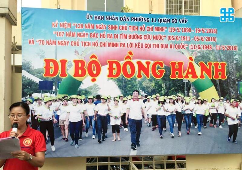 Băng rôn kỷ niệm ngày sinh của chủ tịch Hồ Chí Minh