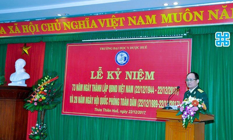 Băng rôn kỷ niệm ngày thành lập quân đội nhân dân Việt Nam
