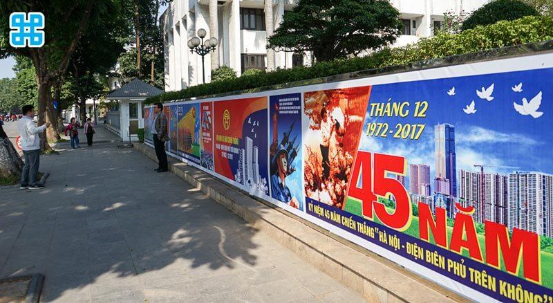 Băng rôn ngày chiến thắng Điện Biên Phủ