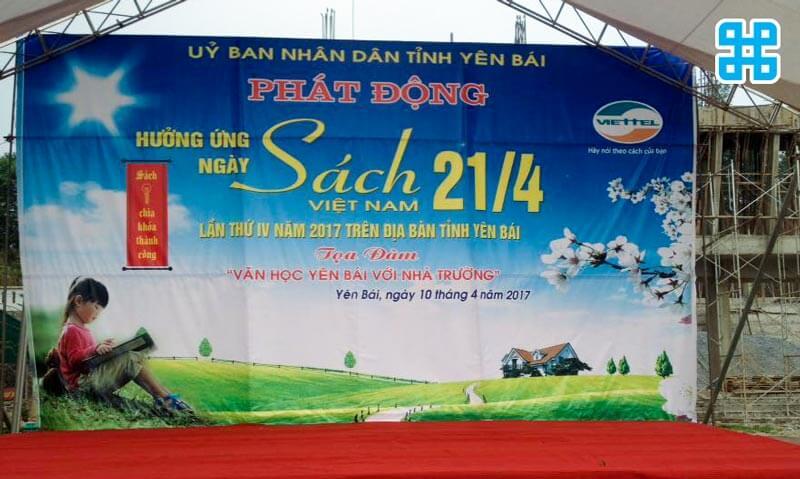 Băng rôn ngày hội sách Việt Nam