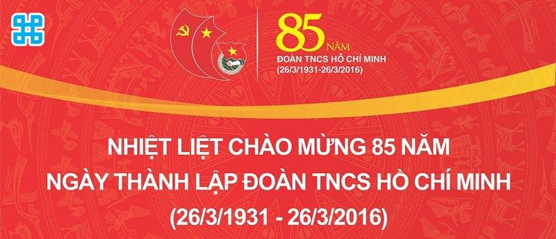 Băng rôn ngày thành lập đoàn thanh niên Việt Nam