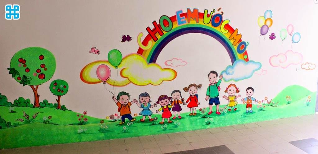 decal trang trí trong trường học