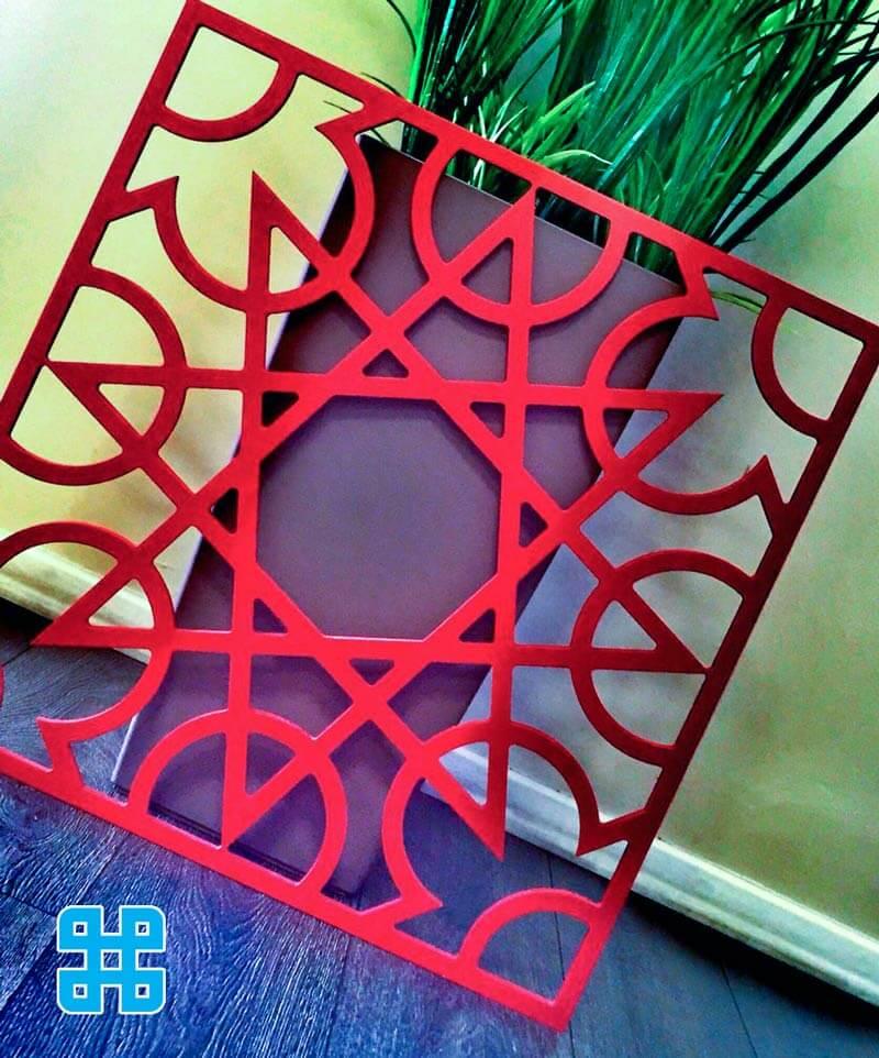 vách ngăn nhựa cnc cao cấp màu đỏ