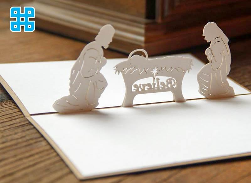 mẫu cắt cnc rất nhỏ nhân dịp giáng sinh (làm bằng formex)