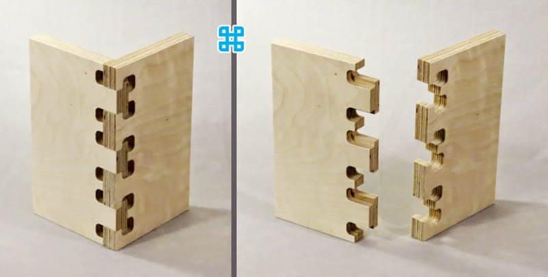 chỉ có độ tinh xảo của cnc mới làm cho 2 miếng gỗ ghép vào nhau thế này được