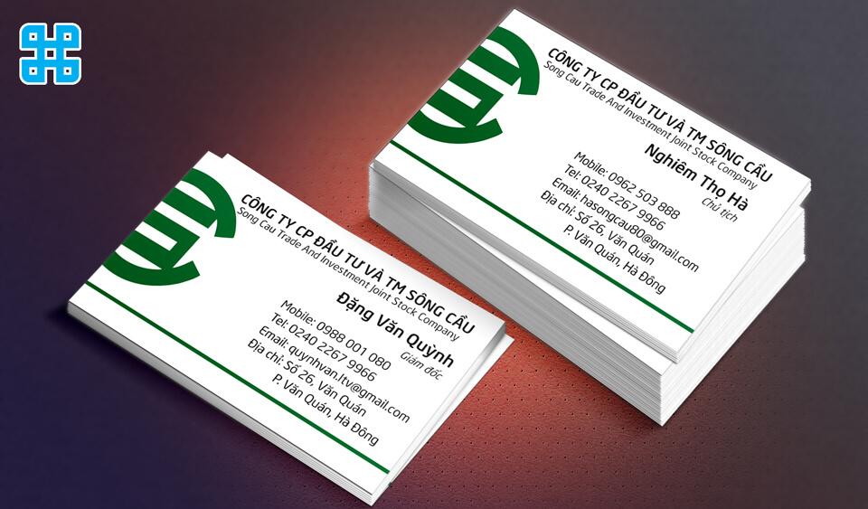 Name card thể hiện được phong cách riêng cho doanh nghiệp