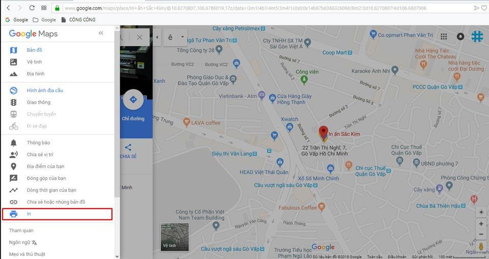 khoanh vùng bản đồ trên google map và in