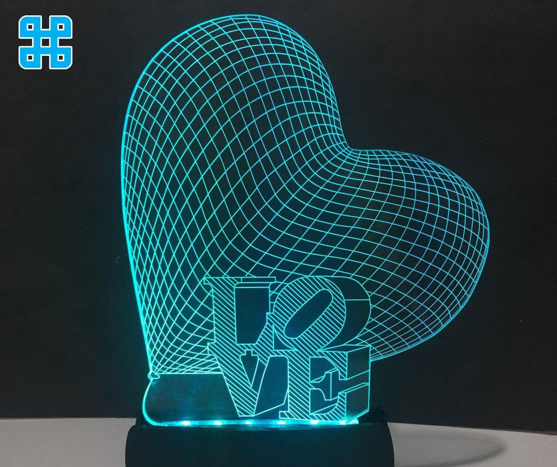 khắc laser mica kết hợp hiệu ứng led