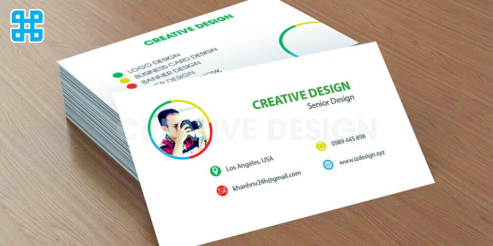 Thiết kế đơn giản những vẫn độc đáo sẽ đem lại điểm nhấn cho Card Visit