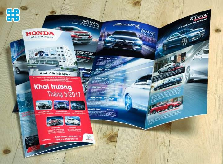 Tờ rơi mừng quảng bá khai trương của hãng Honda