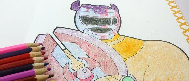 Bản vẽ tranh màu siêu nhân gao ranger