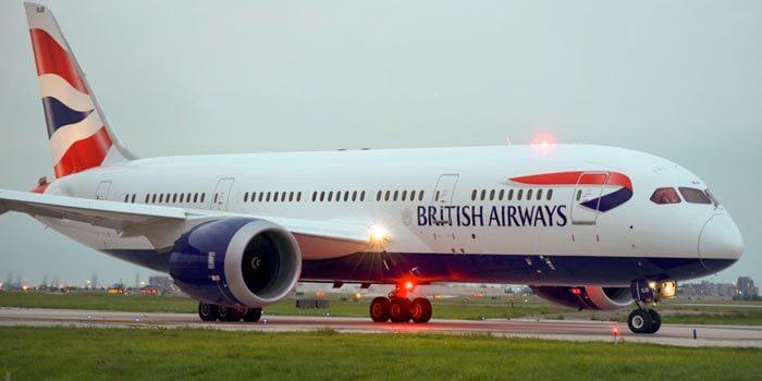 Hãng hàng không British Airways kết hợp có màu logo kết hợp đẹp