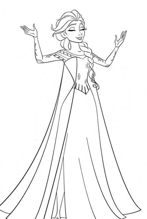 Hình trắng đen công chúa Elsa