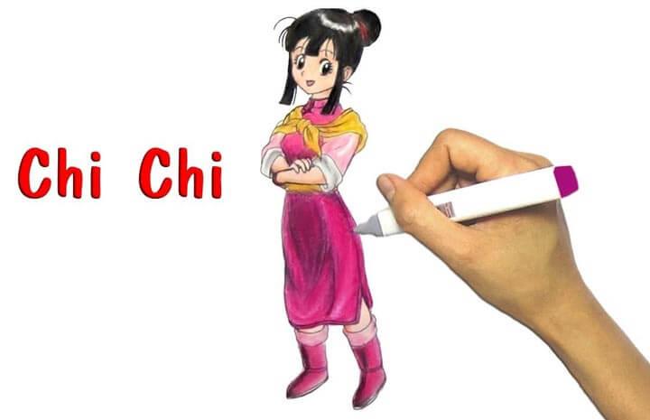 Hình vẽ vợ của Songoku trong truyện tranh 7 viên ngọc rồng