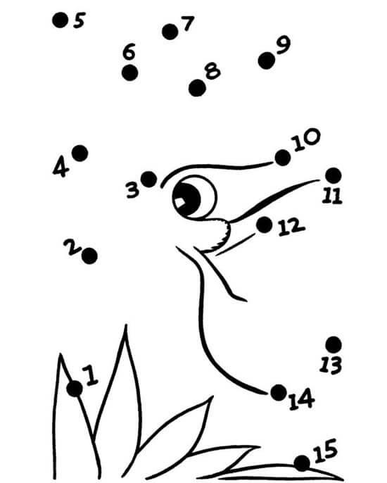 In tranh màu nối số cho trẻ - mẫu 1
