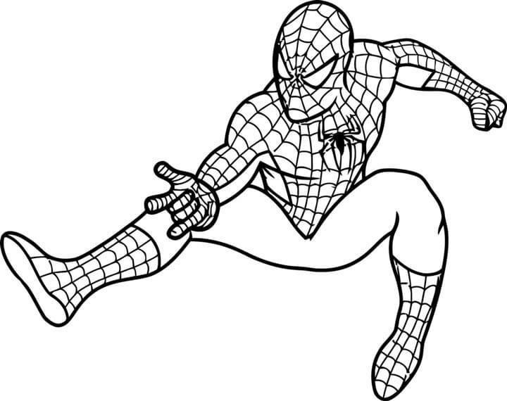 In tranh tô màu người nhện - Spider man