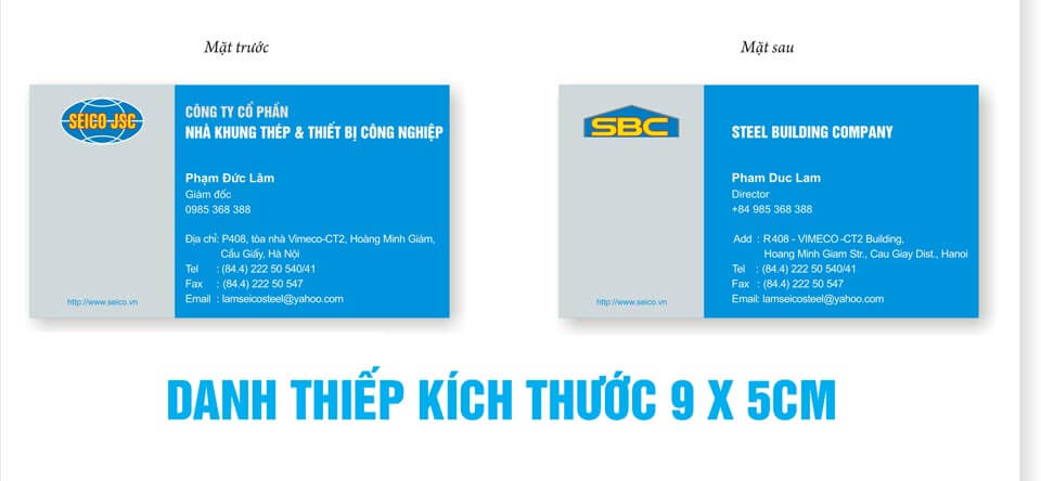 Phần mềm thiết kế card visit 2 mặt