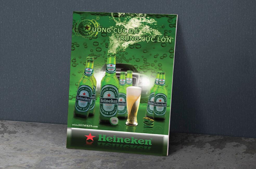 Poster trong một chương trình quảng cáo bia Heiniken