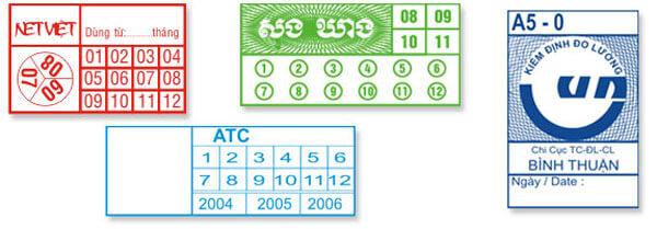 tem bảo hành đánh dấu được in sẵn số