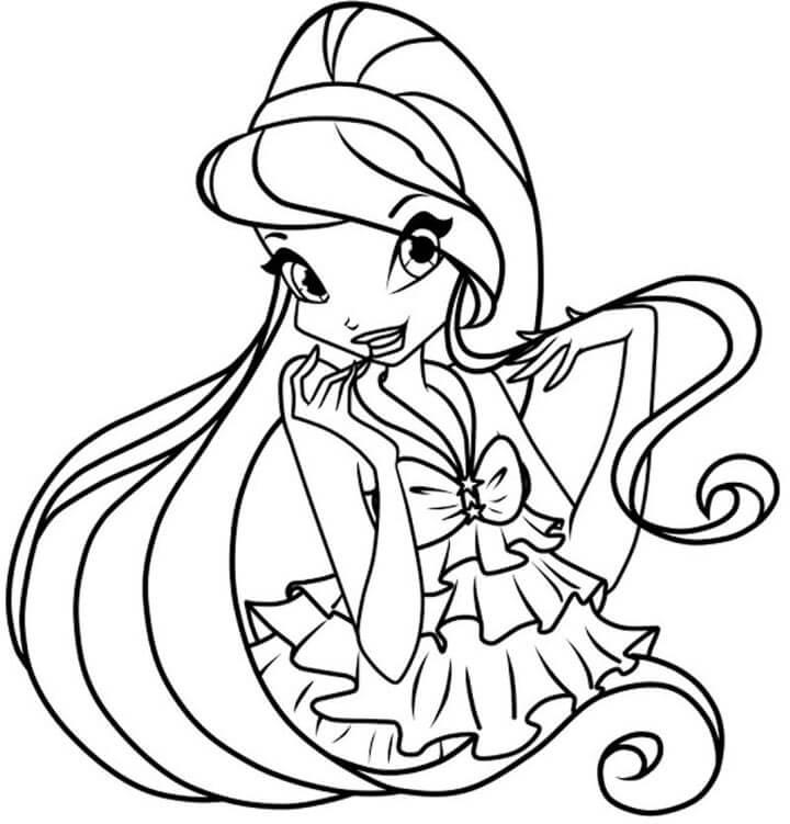 Tô màu cho tranh công chúa xinh đẹp