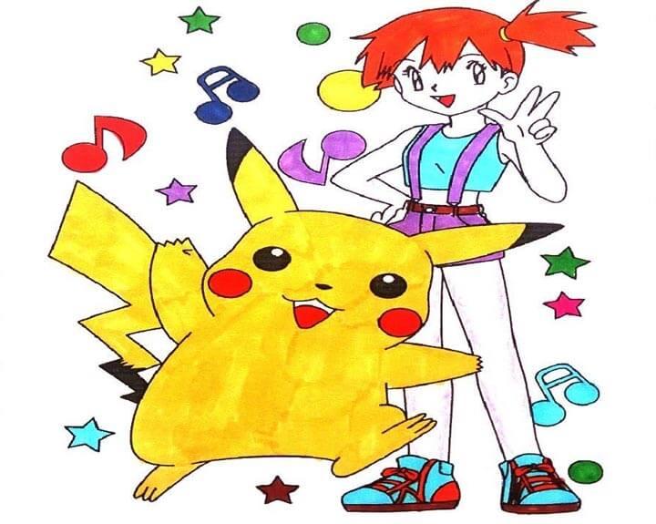 Tranh màu Pokemon