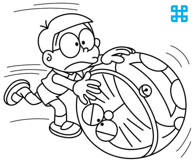 Tranh tô màu Nobita và Doraemon