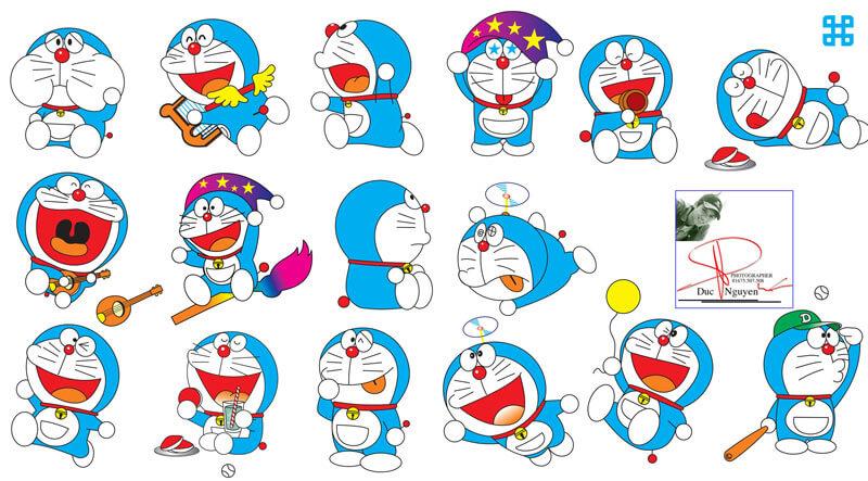 Tranh tô màu trong truyện tranh Doraemon của Nhật Bản