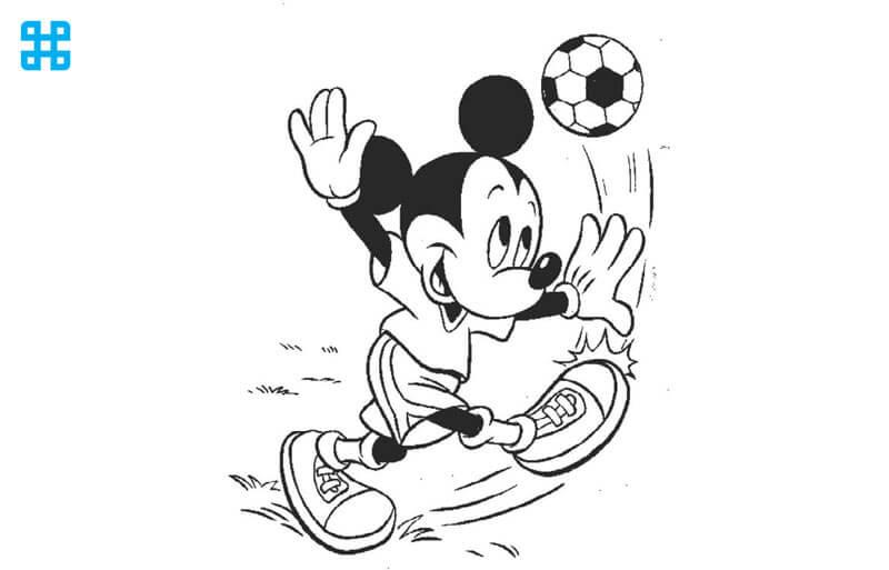 Tranh vẽ tô chuột Mickey của Disney