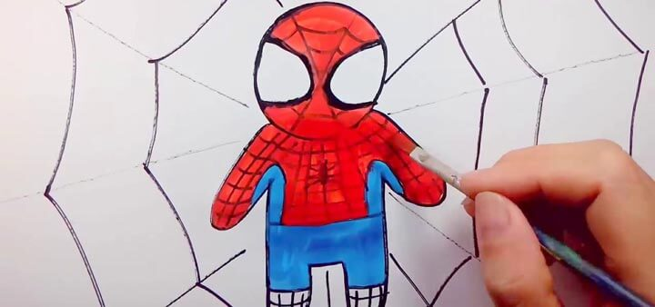 Vẽ tranh tô màu người nhện