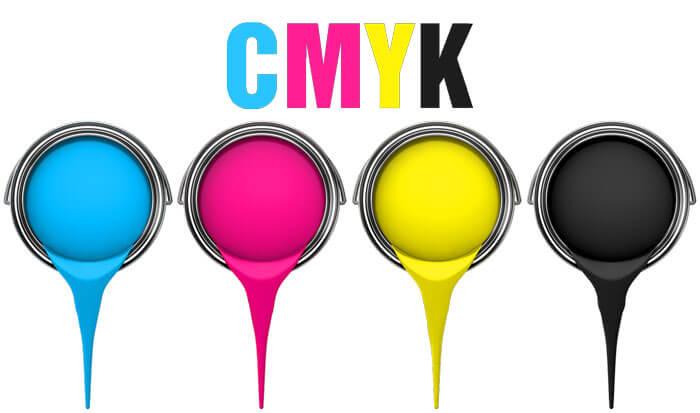 Hệ màu CMYK được sử dụng trong in phun kỹ thuật số
