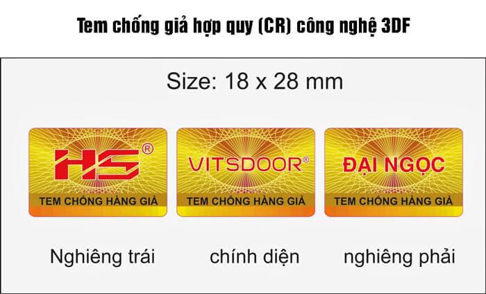Nhìn từ các góc nhìn khác nhau ở tem chống hàng giả 3DF sẽ cho những hình ảnh khác nhau