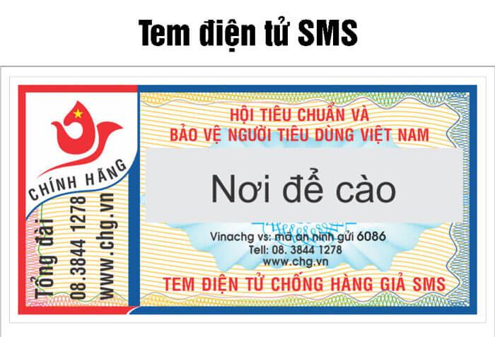 Tem điện tử SMS là loại tem rất phổ biến trong các giải pháp chống hàng giả