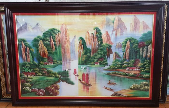 5 yếu đại diện ngũ hành phong thủy đều xuất hiện trong thể loại tranh này