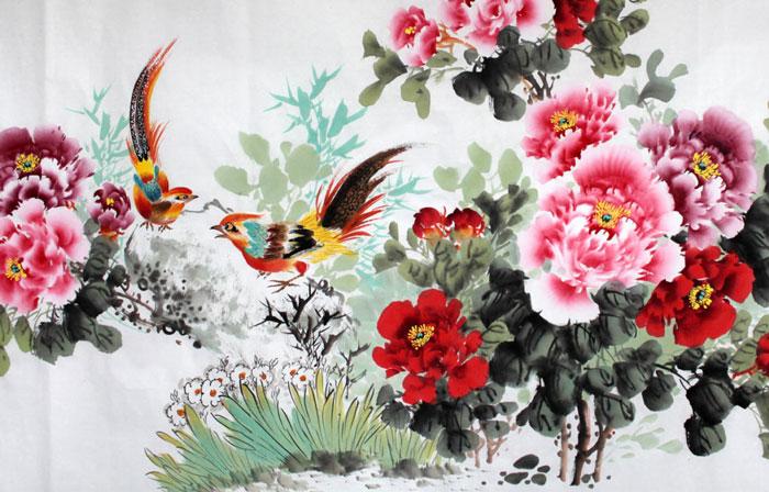 Chim đậu trên nhành hoa mận trắng mang lại cảm giác sum vầy, thân thương