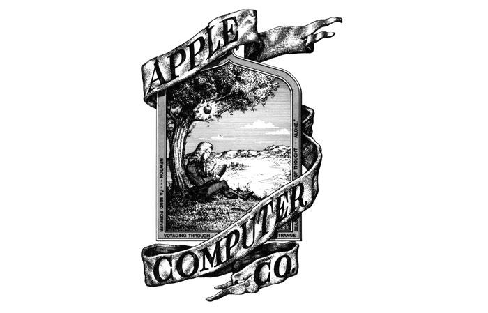 Thiết kế logo Apple phiên bản đầu tiên