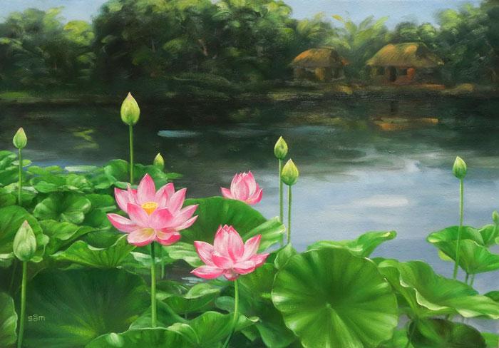 Hoa sen từ lâu là cây đại diện cho sự thanh cao, nhẹ nhàng, thanh tịnh