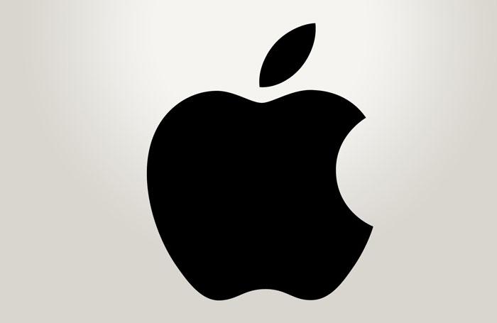 Logo Apple tỉ lệ vàng