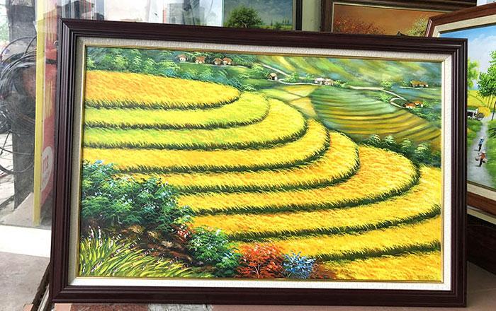 Nền văn minh Việt Nam được thể hiện rõ nét trong thể loại tranh ruộng bậc thang