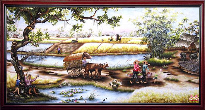 Từ lâu, mùa lúa bội thu tượng trưng cho tài lộc, thịnh vượng dân tộc Việt Nam