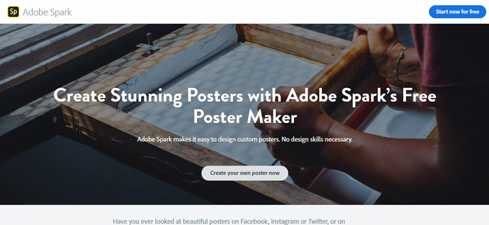 Với Adobe Spark, bạn có thể sử dụng online mà không cần qua phần mềm nào của Adobe