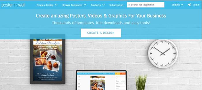 Phần mềm thiết kế poster quảng cáo poster Poster My Wall