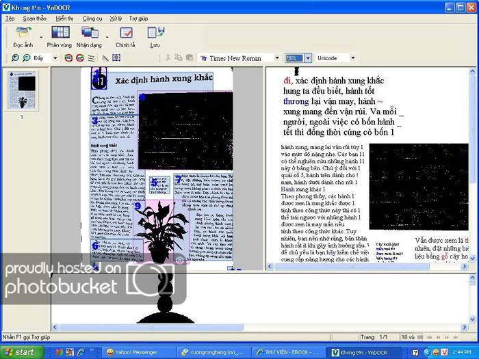 Giao diện phần mềm VnDOCR
