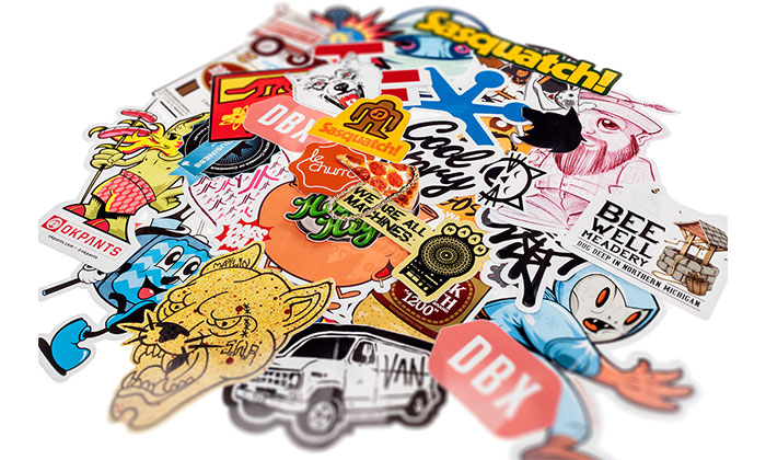 Những sticker được làm handmade