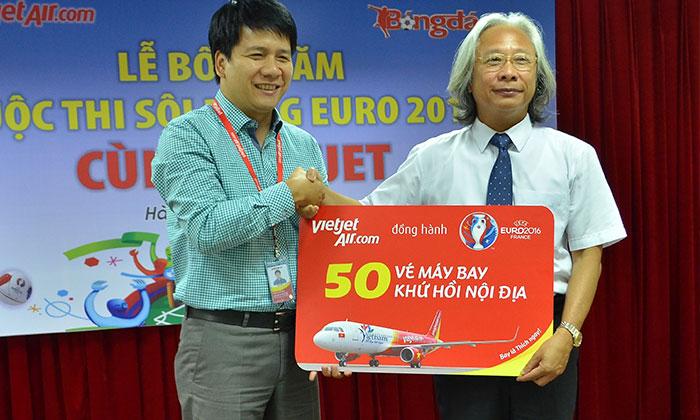 Mẫu trao giải thưởng trúng vé máy bay